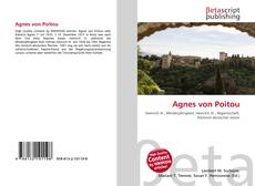 Обложка Agnes von Poitou