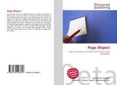 Buchcover von Page (Paper)