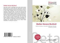 Buchcover von Walter Horace Bruford
