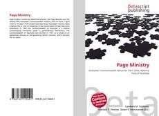 Couverture de Page Ministry