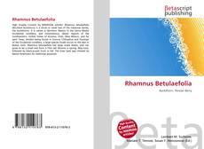 Couverture de Rhamnus Betulaefolia