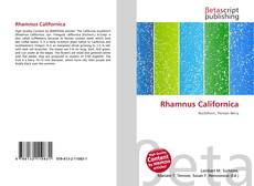Couverture de Rhamnus Californica