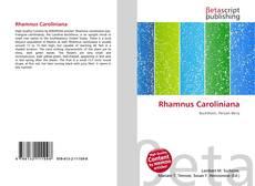 Couverture de Rhamnus Caroliniana