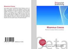 Couverture de Rhamnus Crocea