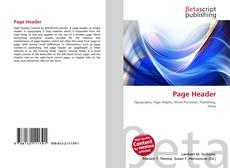 Buchcover von Page Header