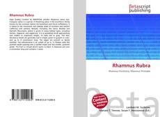 Couverture de Rhamnus Rubra