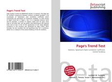 Bookcover of Page's Trend Test