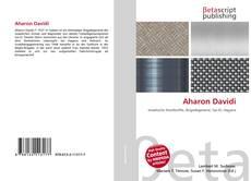 Aharon Davidi kitap kapağı