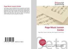 Bookcover of Page Music Lesson Center