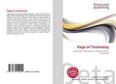 Bookcover of Page of Testimony