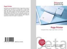 Buchcover von Page Printer