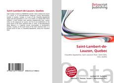 Bookcover of Saint-Lambert-de-Lauzon, Quebec