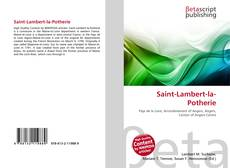 Bookcover of Saint-Lambert-la-Potherie