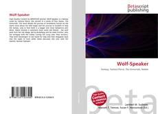 Bookcover of Wolf-Speaker