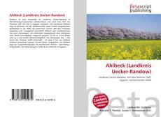 Capa do livro de Ahlbeck (Landkreis Uecker-Randow)