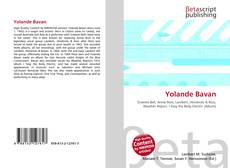 Bookcover of Yolande Bavan