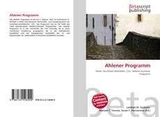Portada del libro de Ahlener Programm