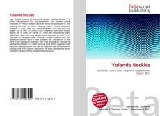 Bookcover of Yolande Beckles