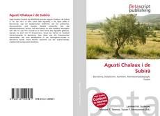 Bookcover of Agustí Chalaux i de Subirà