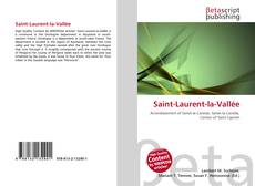 Capa do livro de Saint-Laurent-la-Vallée