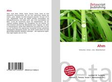 Bookcover of Ahm
