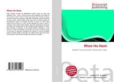 Bookcover of Rhee Ho Nam