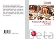 Capa do livro de Praeclara Gratulationis Publicae