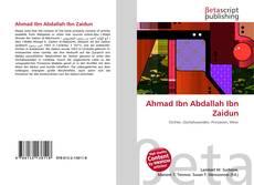 Buchcover von Ahmad Ibn Abdallah Ibn Zaidun
