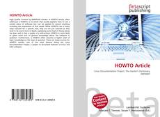 Bookcover of HOWTO Article