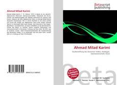 Обложка Ahmad Milad Karimi