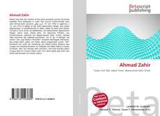 Portada del libro de Ahmad Zahir