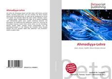 Bookcover of Ahmadiyya-Lehre