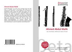 Bookcover of Ahmed Abdul Malik
