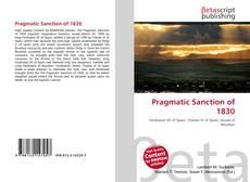Buchcover von Pragmatic Sanction of 1830
