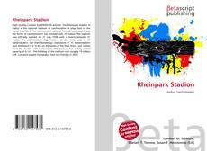 Bookcover of Rheinpark Stadion