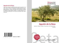 Capa do livro de Agustín de la Rosa