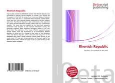 Bookcover of Rhenish Republic