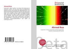 Ahmed Rıza kitap kapağı