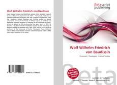 Portada del libro de Wolf Wilhelm Friedrich von Baudissin