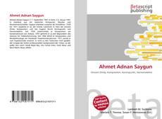 Ahmet Adnan Saygun kitap kapağı