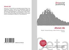 Bookcover of Ahmet Ak