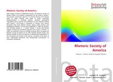 Bookcover of Rhetoric Society of America