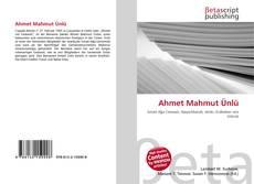 Bookcover of Ahmet Mahmut Ünlü