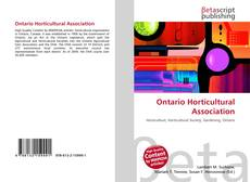 Portada del libro de Ontario Horticultural Association