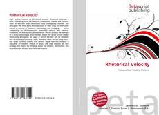 Capa do livro de Rhetorical Velocity