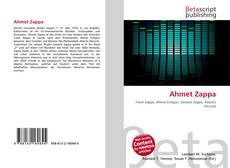 Bookcover of Ahmet Zappa