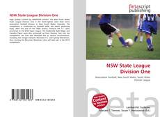 NSW State League Division One kitap kapağı