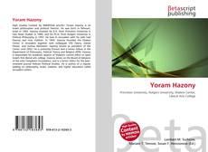 Buchcover von Yoram Hazony