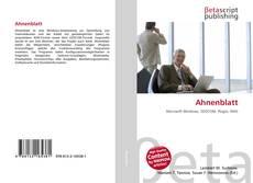Ahnenblatt kitap kapağı