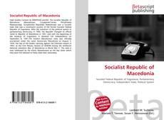 Bookcover of Socialist Republic of Macedonia